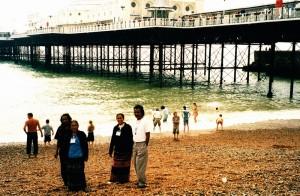 Brighton lunch break on beach